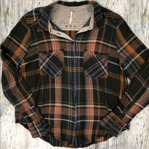 Free People plaid long sleeve.
